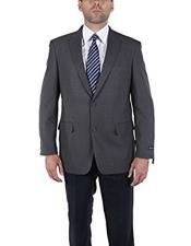 Men's Classic 2 Button Gray Blazer