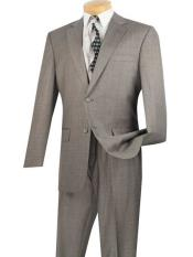 Piece Notch Lapel Gray