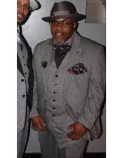 Breasted tuxedo gray vested