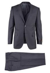 Pure Wool Side Vent Novello 2 Button Gray Modern Fit Luxe