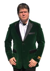 Mens Big And Tall Blazers Velvet ~ Velour Clearance Cheap Priced Green