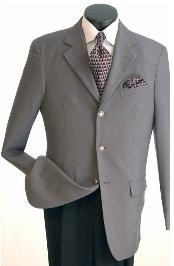 Classic Single Breasted Grey Cheap Priced Unique Dress Blazer For Men