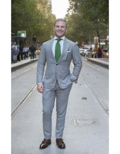 Grey Front Patch Pockets Package Combo Regular Fit Cut Suit