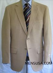 Single Breasted Camel ~ Khaki ~ Tan ~ Beige Hair Sport Coat