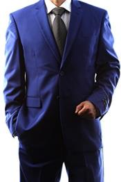 Fit Single Breasted 2 Button Dark Navy Blue Suit For Men