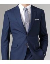 Mens Navy Slim Fit or Regular Fit Cut Package Combo Suit