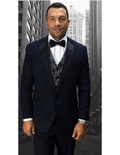 Statement Suits Clothing Confidence Single Breasted Modern Fit Dark Navy 1