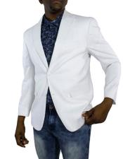Mens White One Ticket Pocket Thread and Stitch Blazer