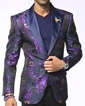 SKU#GD30 Alberto Nardoni Brand Men's Single Breasted Peak Lapel Austin Purple Fashion Blazer and Sport Coat coming in 90 days  $1200