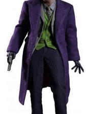 Single Breasted Wool Blend Purple coat