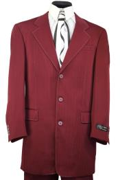 Maroon Burgundy ~ Maroon ~ Wine  Notch Lapel Zoot Suit