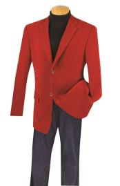 And Tall Blazers Clearance Cheap Priced Red Velvet ~ Velour Cheap Blazer Jacket For Men / Sport