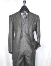Mens   3 Button Sharkskin Grey Cheap Priced Business Suits Clearance