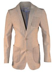 Boys 2 Button Single Breasted Notch Lapel Tan Linen Blazer