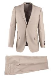 brand Mens Tan Wool Novello Modern Fit Luxe Fine Brands Best
