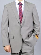 Mens Taupe Double Vent Slim Fit Suit