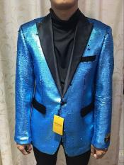 Nardoni Brand SEQUINS-1 Turquoise ~ Light Blue Shiny (Wholesale Price $95)
