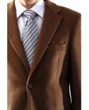 Charles Mens Single Breasted 2 Button Lamb Wool Cashmere Sport Coat Vicuna Blazer