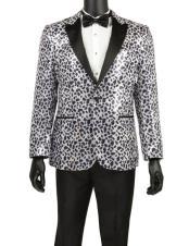 Mens Fashion Leopard Print Blazer ~ Sport Coat ~ Tuxedo Dinner