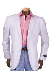 White Cheap Priced Designer Fashion Dress Casual Blazer For Men On