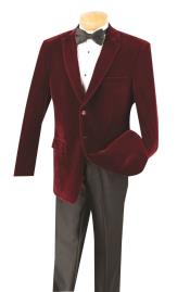 Cheap Priced Big And Tall Blazers Wine Clearance Velvet ~ Velour Blazer