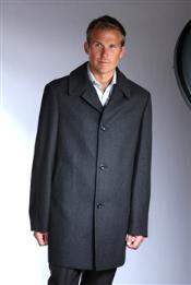 Mens Dress Coat  34 Wool Blend Car Coat Black Charcoal