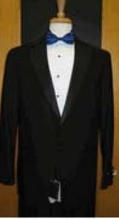 Button Notch Lapel Black Tuxedo