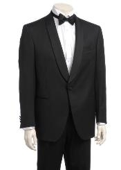 Mens One-button Satin Shawl Lapel Tuxedo