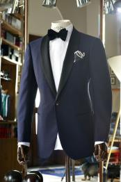 Mens Vested Black Lapel Two toned