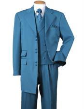 6 Button Wide Notch Lapel 100% Polyester Double Breasted Zoot Suit