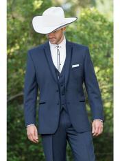 Mens Western Traje Vaquero Suit & Tuxedo Slate Blue