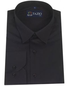 Fit - Black Mens Dress Shirt