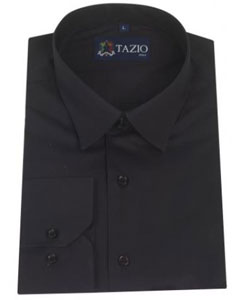 Slim Fit Black Dress Shirt