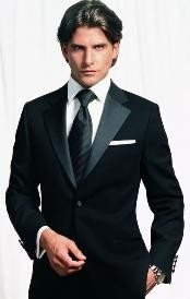 Tapered Tuxedo 2 Button Tuxedo Wool for Men
