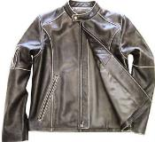 Genuine Leather Moto Jacket Distressed Slim Fit – Brown tanners avenue