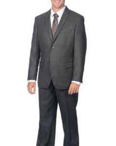 Fit Suit Charcoal 2-Button Cheap Priced Business Suits Clearance Sale For