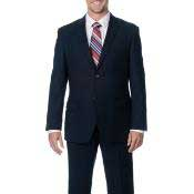 Slim Fit Dark Navy 2-Button Cheap Priced Business Dark Blue Suit