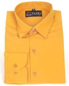 Slim Fit - Orange Mens Dress Shirt