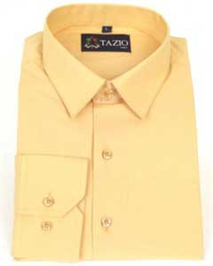 Mens Dress Shirt Slim Fit - Peach