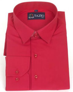 Fit Red Mens Dress Shirt