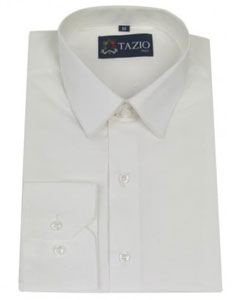 Fitted White Mens Dress Shirt
