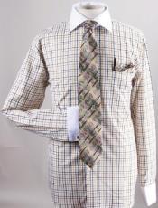 Checker Dress Fashion Shirt/