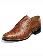 Mens Snakeskin Print Leather