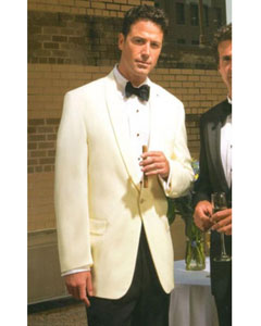100% Merino Wool Snow White Shawl Collar Dinner Jacket