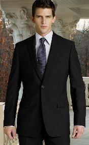 slim black suit