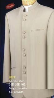 Taup/Khaki Mandarin Collar BANNED