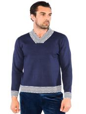 Mens Classic Square V-Neck Sweater Available in Big And Tall Sizes