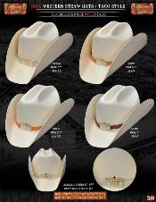 Tejana Taco Style Western Cowboy Straw Hats