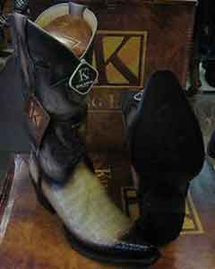 Exotic Tan Oryx Snip Toe Genuine Crocodile Western Cowboy Boot