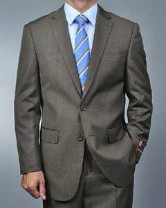 Mens 2 Button Taupe Suits